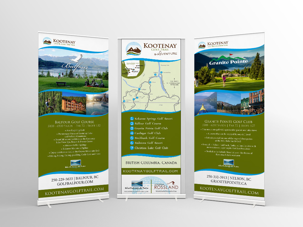 Kootenay Golf Trail banners
