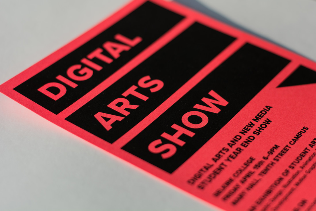 Digital Arts Show Invitation