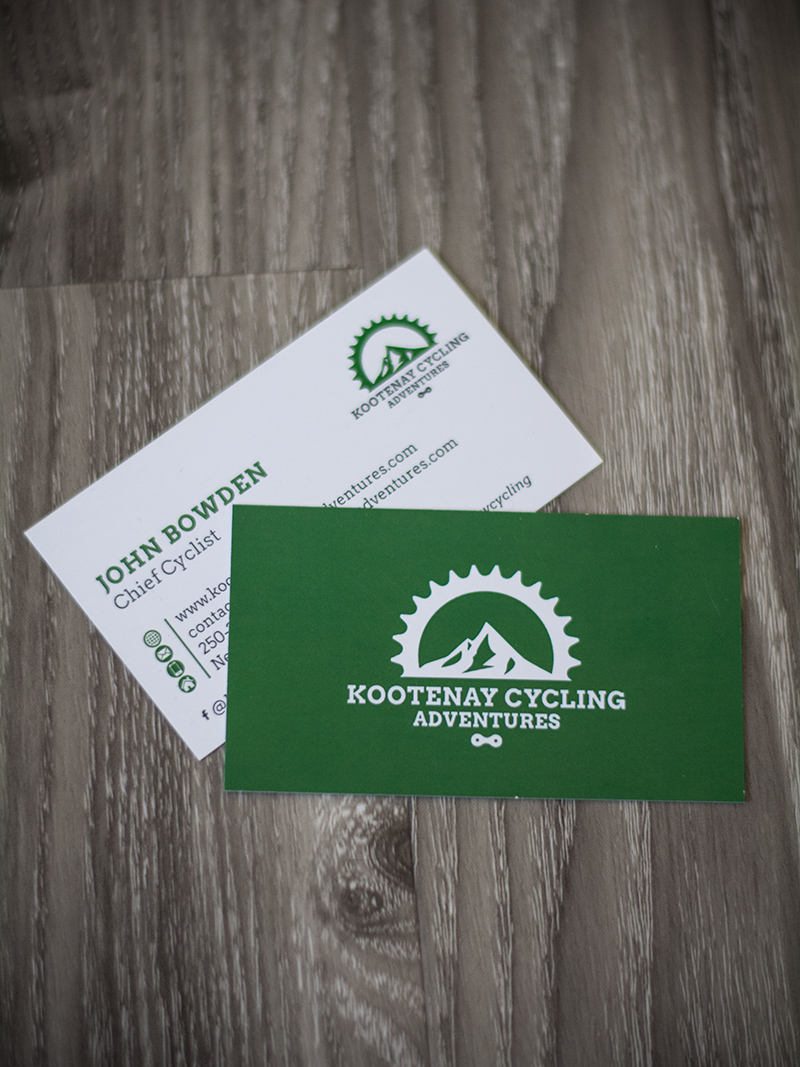 Kootenay Cycling Adventures Business card